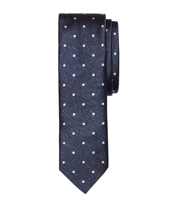 Melange Dot Slim Tie Navy