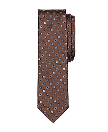 Alternating Flower Slim Tie