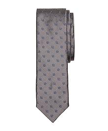 Four-Petal Flower Slim Tie