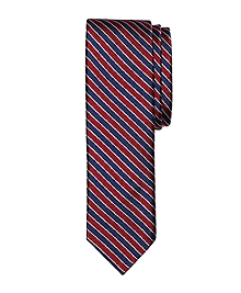 Framed Stripe Slim Tie