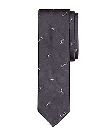 Barber Shop Motif Slim Tie