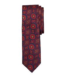 Vintage Print Slim Tie