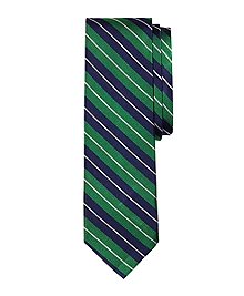 Split Stripe Slim Tie