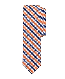 Seersucker Gingham Slim Tie