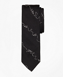 Paper Airplane Slim Tie
