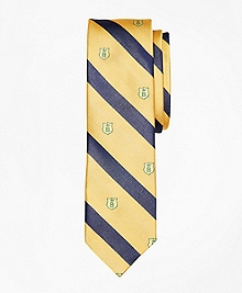 Stripe and Shield Slim Tie