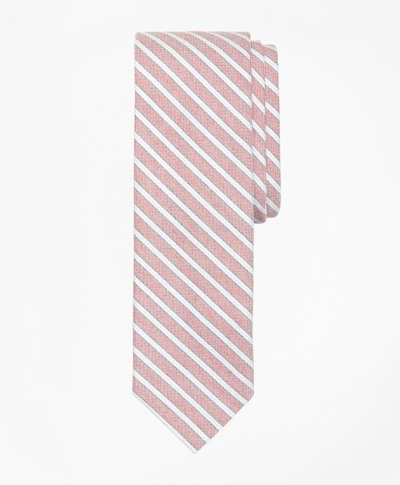Supima® Cotton Stripe Slim Tie Red