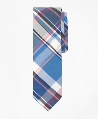 Large Plaid Slim Tie