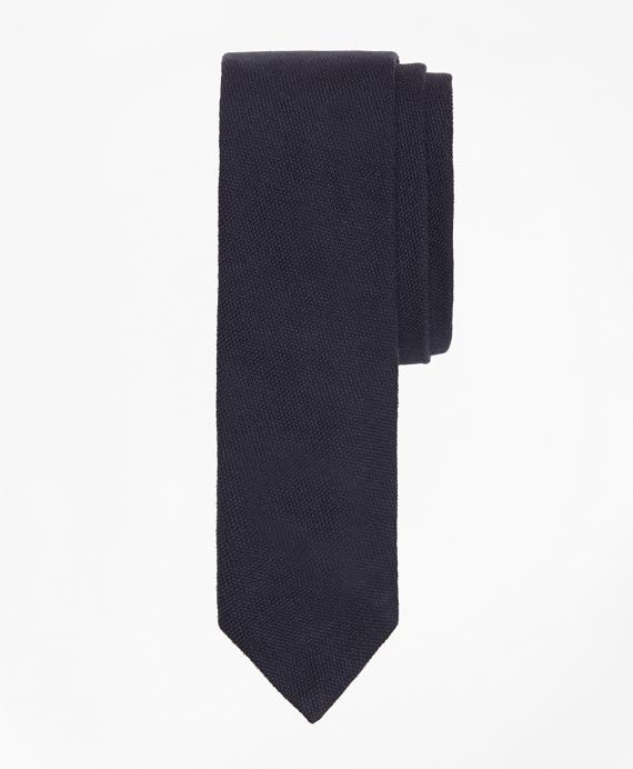 Pique Slim Tie Navy