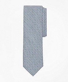 Mini Houndstooth Check Slim Tie