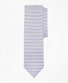 Horizontal Stripe Seersucker Slim Tie