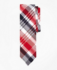 Plaid Seersucker Slim Tie