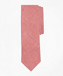 Red Chambray Slim Tie