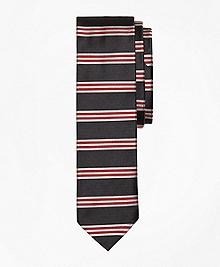 Horizontal BB#1 Stripe Slim Tie