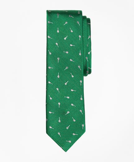 Racquet-Motif Slim Tie