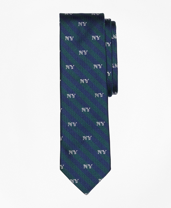 Striped NY-Motif Slim Tie