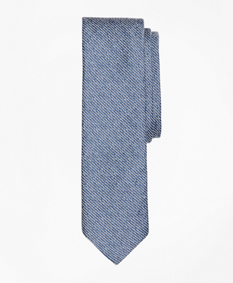 Striped Chambray Slim Tie