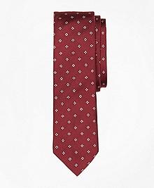 Diamond-Print Slim Tie