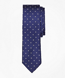 Diamond-Print Slim Tie