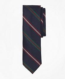 Stripe Wool Slim Tie