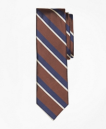 Stripe Silk Slim Tie