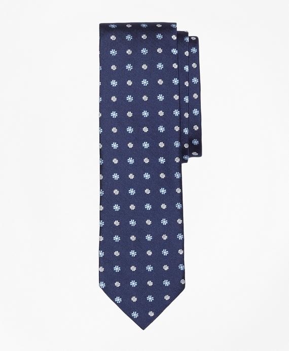 Multi-Flower Slim Tie Navy