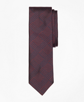 Glen Plaid Slim Tie
