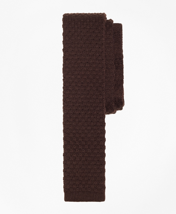 Wool Knit Tie Brown