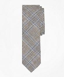 Plaid Linen Tie