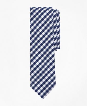 Gingham Seersucker Tie