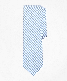 Striped Seersucker Tie