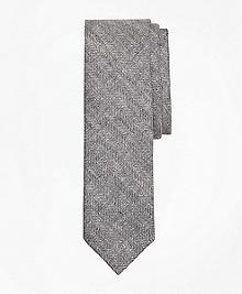 Herringbone Linen Tie
