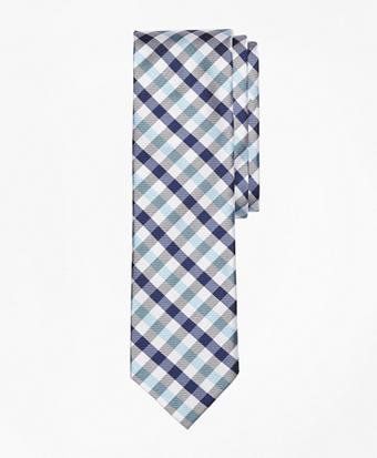 Tri-Tone Checkered Silk Tie