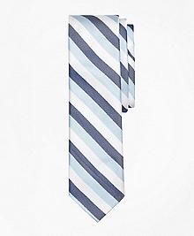 Tri-Tone Stripe Silk Tie
