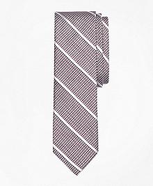 Houndstooth Stripe Silk Tie