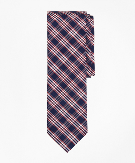 Check Cotton Slim Tie