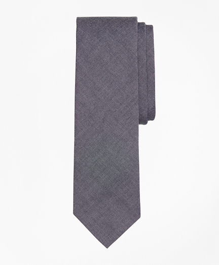 Cotton Chambray Slim Tie