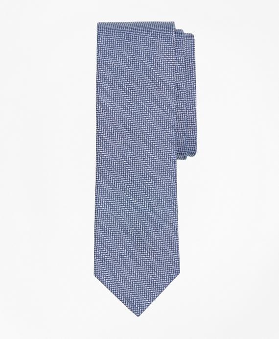 Pindot Dobby Cotton Slim Tie Blue