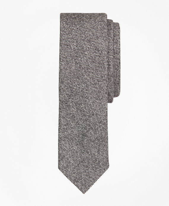 Herringbone Cotton-Wool Slim Tie