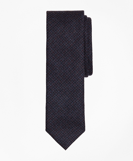 Check Wool Slim Tie
