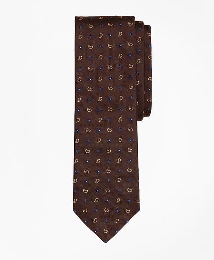 Paisley & Floral Silk Jacquard Slim Tie