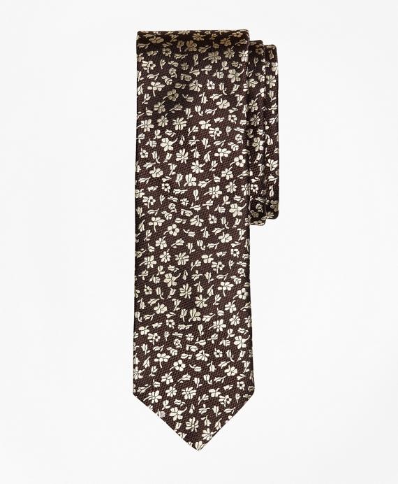 Floral Silk Jacquard Slim Tie