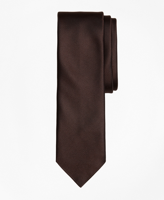 Textured Silk Jacquard Slim Tie