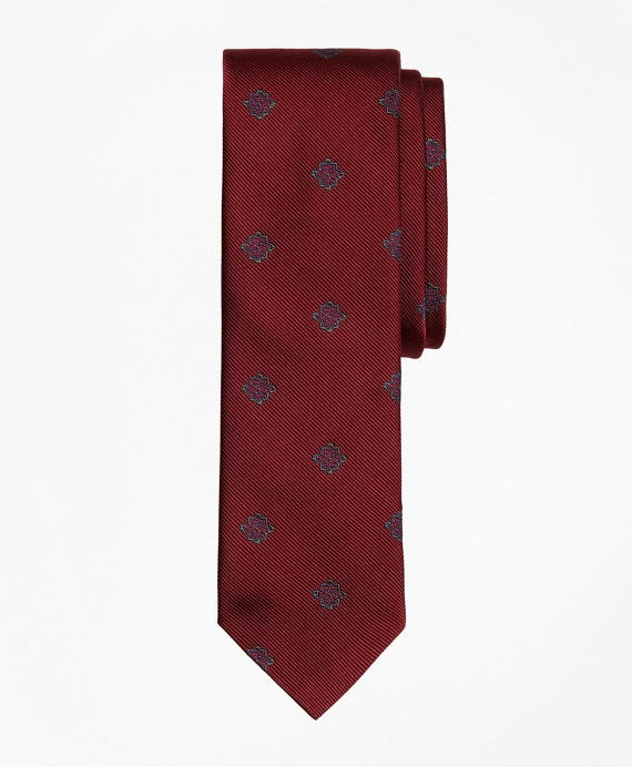 Medallion Silk Jacquard Slim Tie