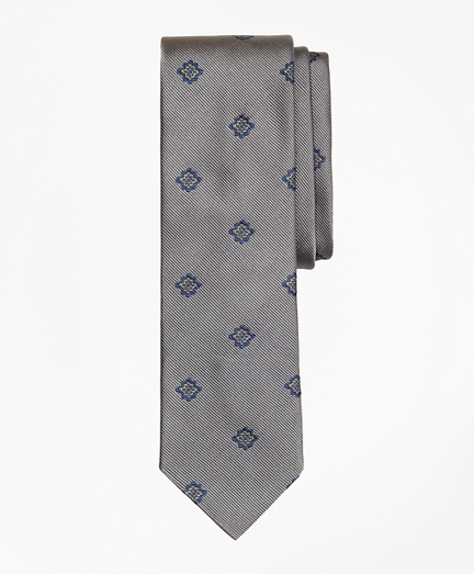 Medallion Silk Jacquard Slim Tie