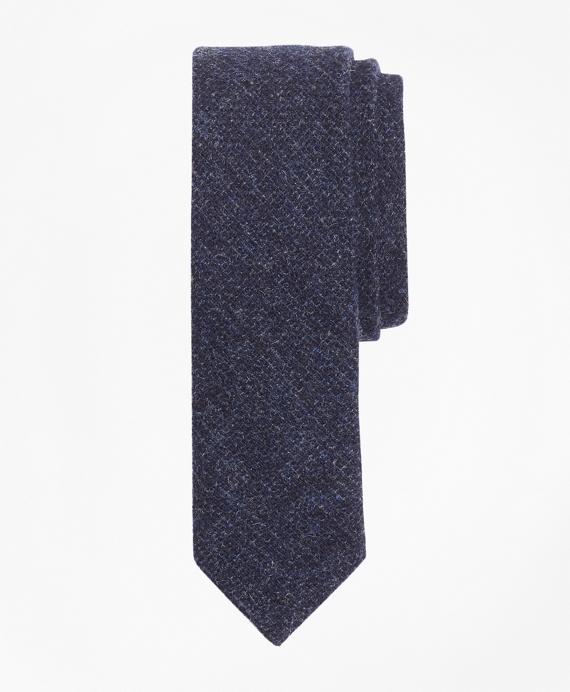 Textured Wool Tweed Tie Blue