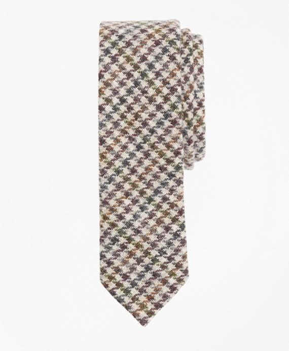 Houndscheck Wool Tie