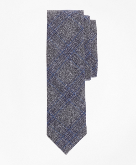 Plaid Wool-Cashmere Flannel Tie