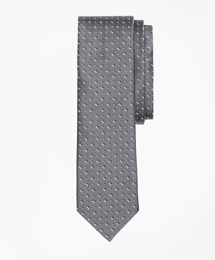 Geometric Silk Foulard Tie