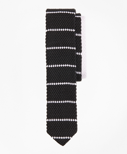 Stripe Silk Knit Tie